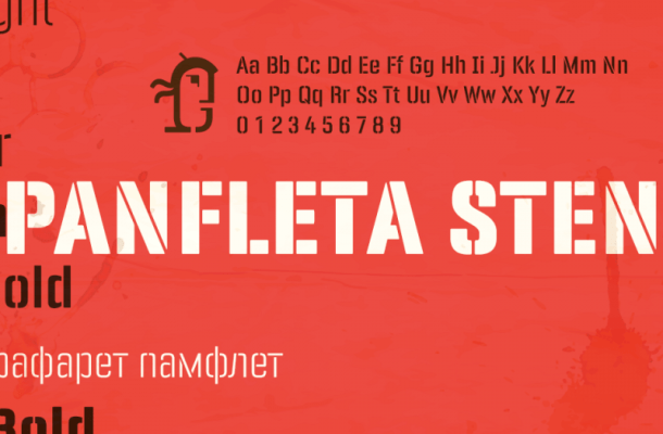 PANFLETA STENCIL FONT Free