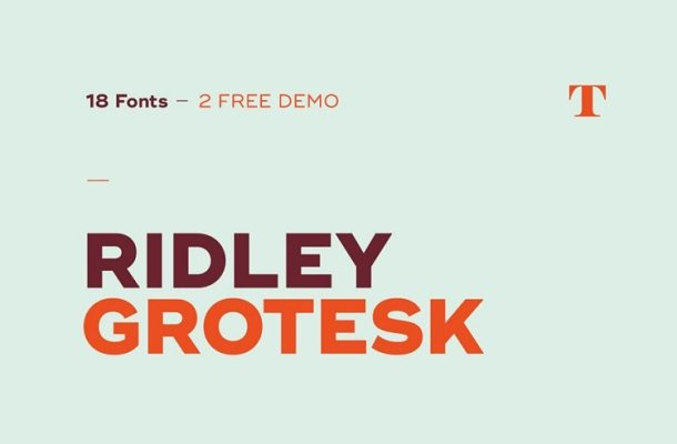 Ridley Grotesk Font Free