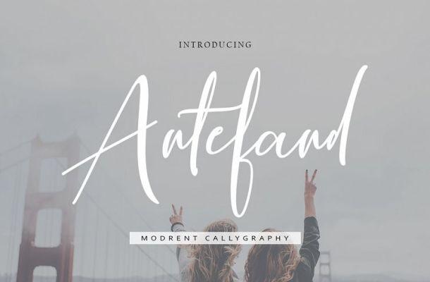 Antefand Script Font Free