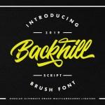 Backhill Bold Script Font