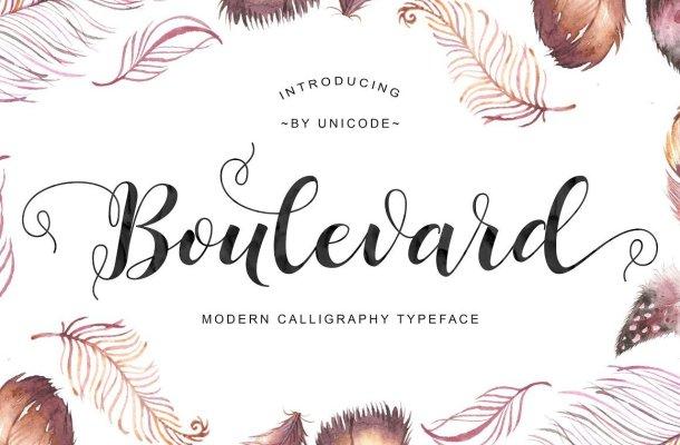 Boulevard Script Font Free