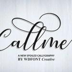 Callme Script Font Free