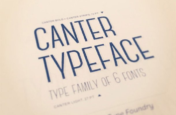 Canter Typeface Free