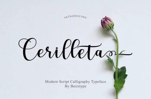 Cerilleta Script Font Free