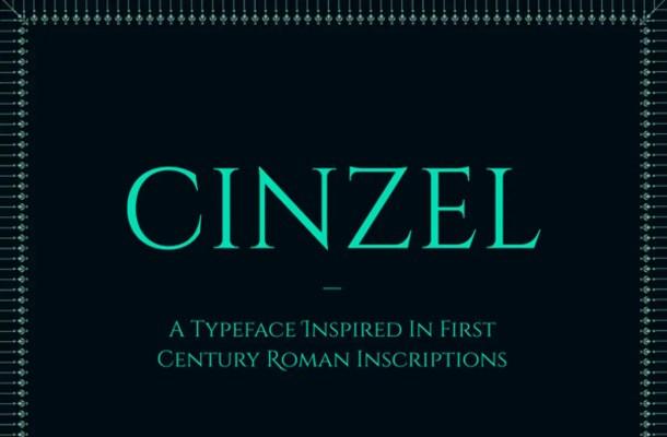 Cinzel Font Family Free