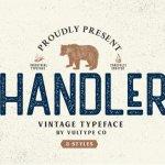 Handler Vintage Font Free