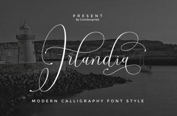 Irlandia Calligraphy Font Free