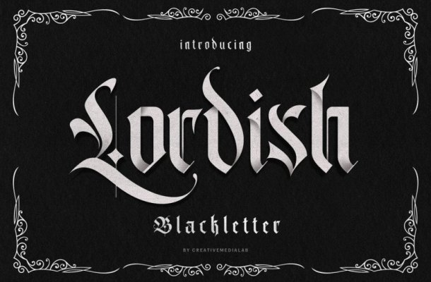 Lordish Blackletter Font Free