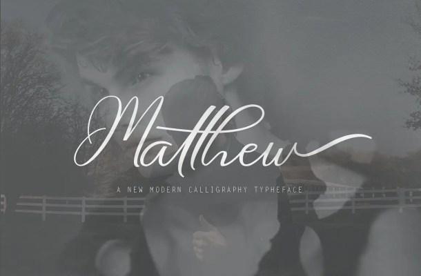 Matthew Script Font Free