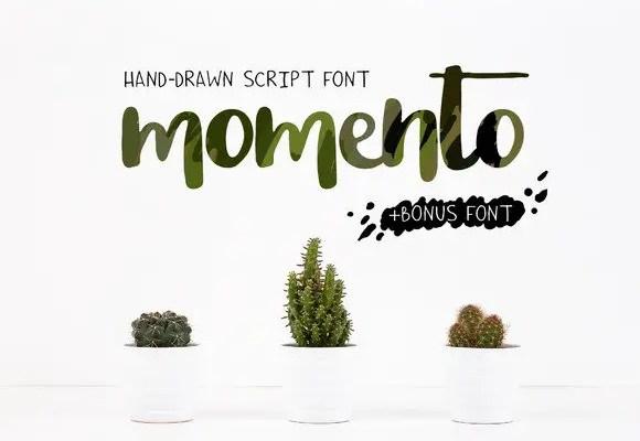 Momento Script Font Free