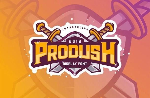 Prodush Typeface Free