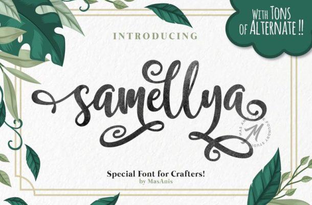 Samellya Script Font Free
