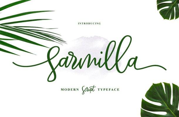 Sarmilla Script Font Free
