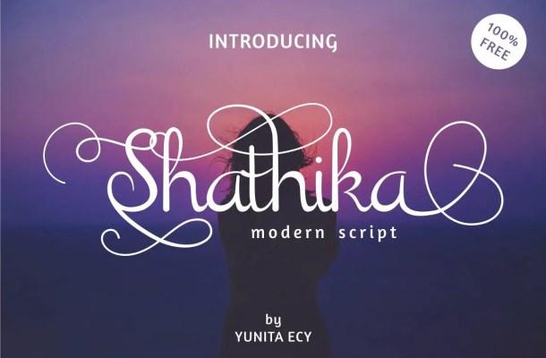 Shathika Script Font Free