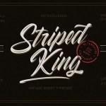 Striped King Script Font