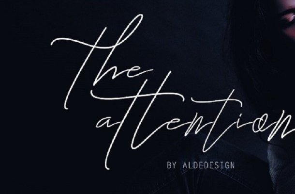 The Attention Signature Font