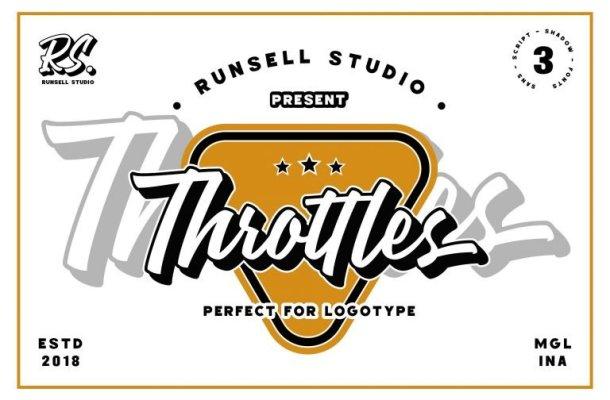 Throttles Logotype Font Free