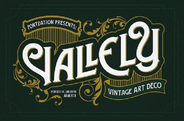Vallely Vintage Font Free
