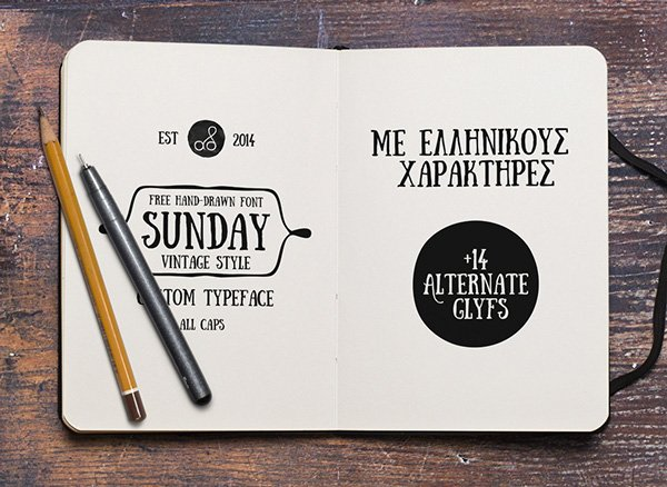 1.Free-Font-Of-Of-The-Day-Sunday