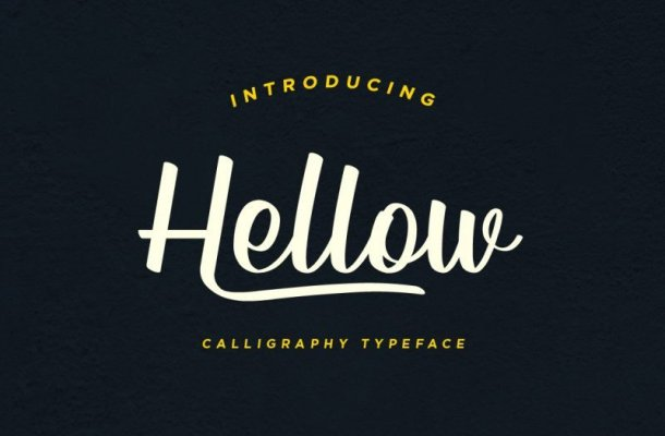 Hellow – Calligraphy Typeface Free