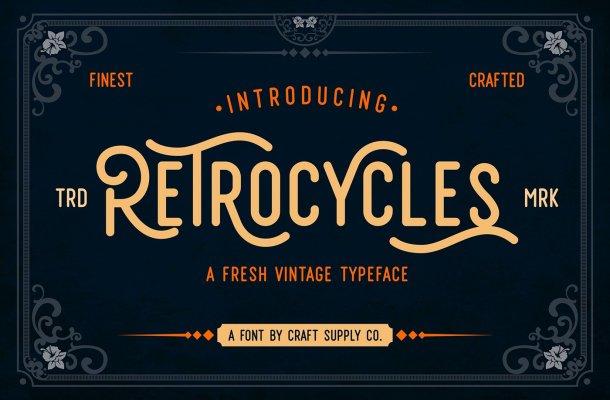 Retrocycles Typeface Free