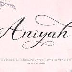 Aniyah Calligraphy Font Free