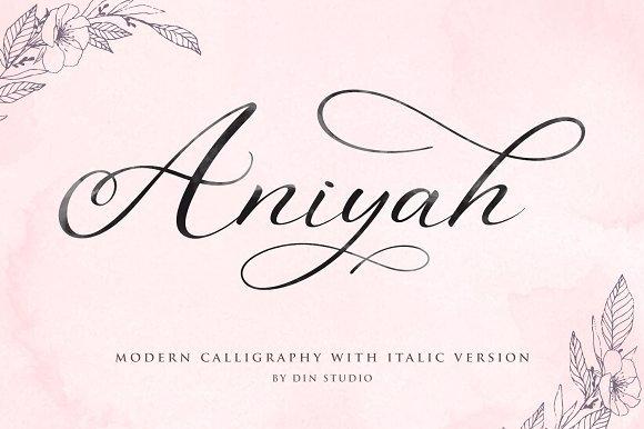 aniyah-script-font