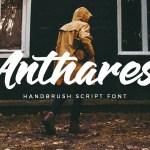 Anthares Handbrush Font