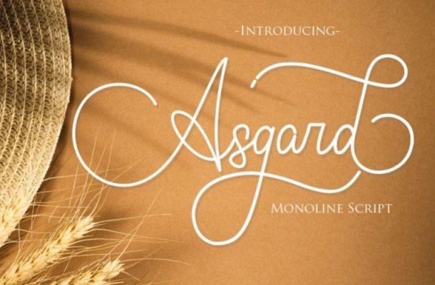 Asgard Script Font Free