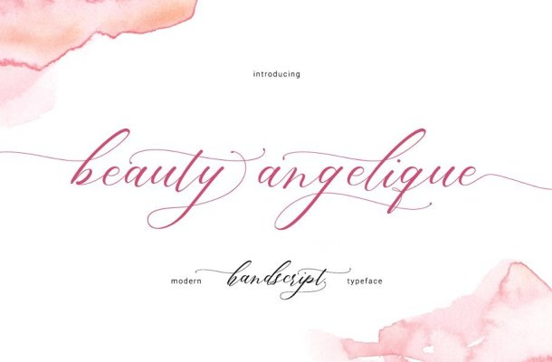 Beauty Angelique Script Font