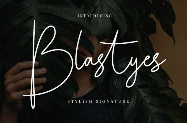 Blastyes Signature Font Free