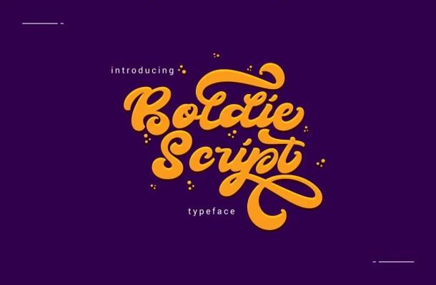 Boldie Script Font Free