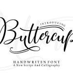 Buttercup Handwritten Font Free