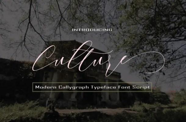 Culture Script Font Free