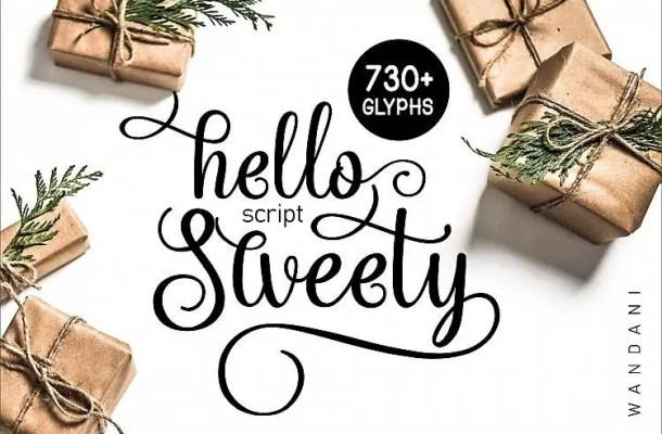 Hello Sweety Script Font
