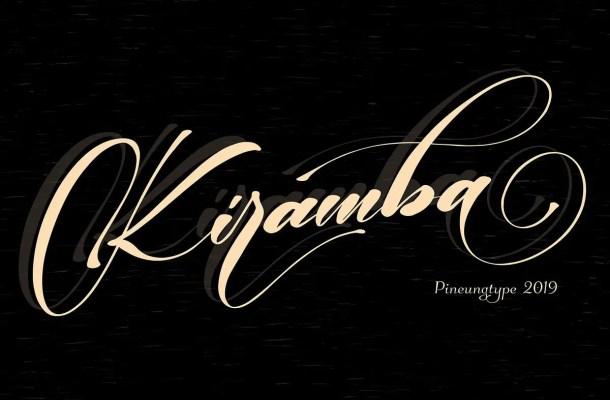 Kiramba Calligraphy Font Free