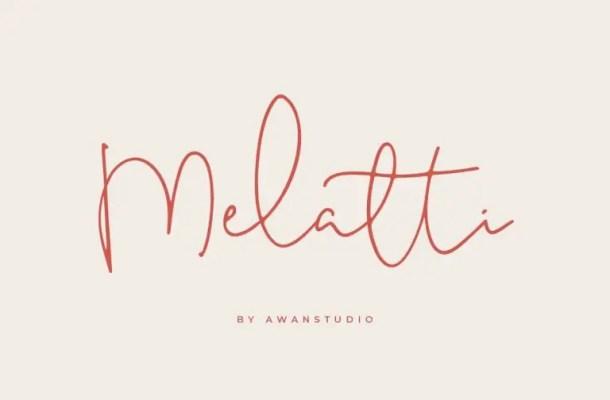 Melatti Handwritten Font Free