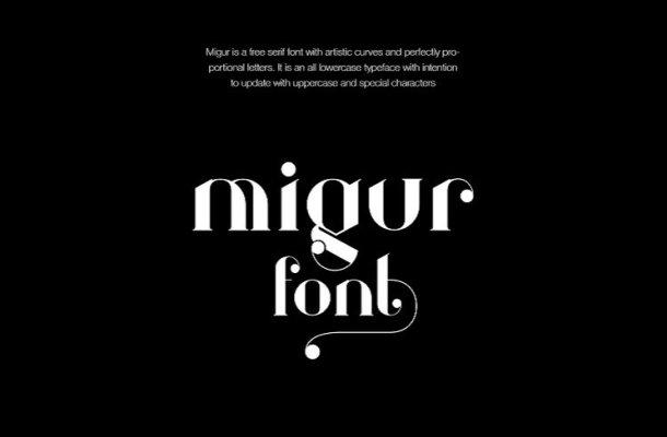 Migur Font Free