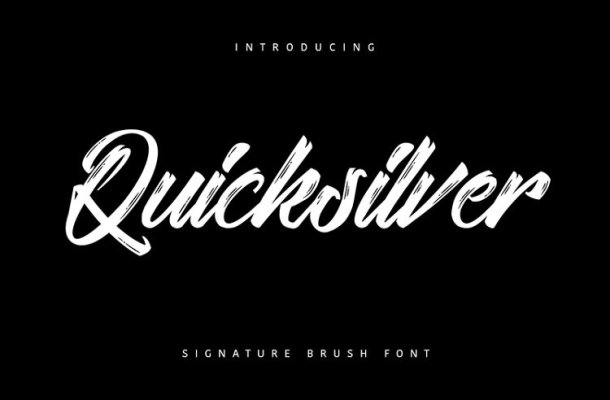 Quicksilver Font Free