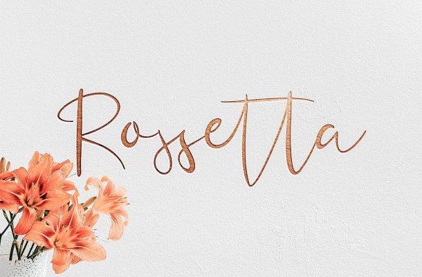 Rossetta Script Font Free