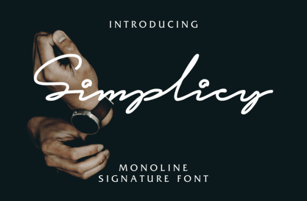 Simplicy Signature Font Free
