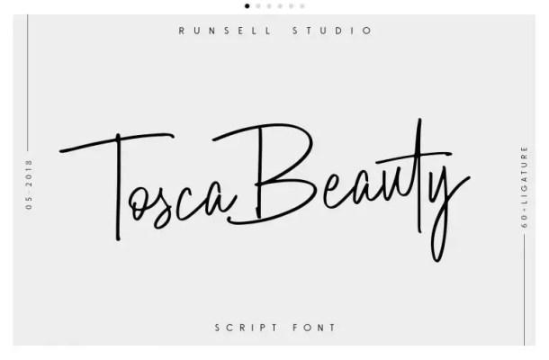 Tosca Beauty Script Font