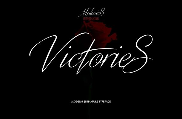 Victories Signature Font Free