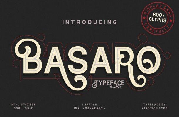 Basaro Display Font Free