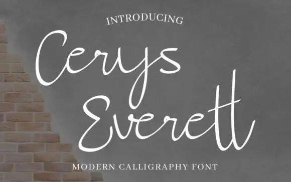 Cerys Everett Handwritten Font