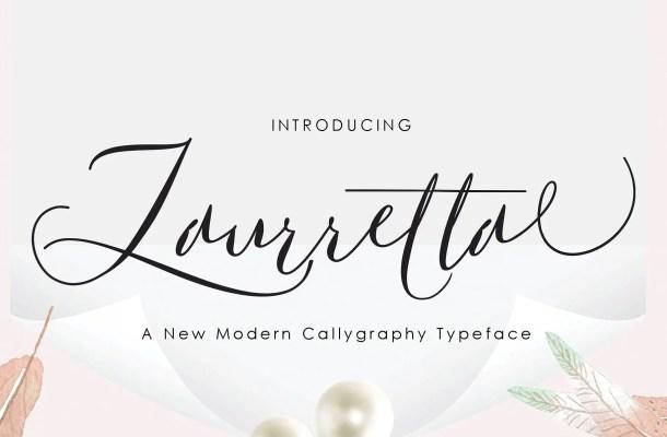Laurretta Calligraphy Font Free