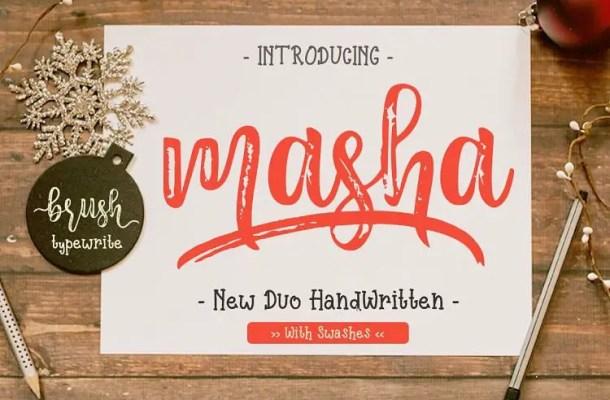 Masha Script Font Free