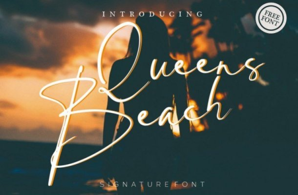 Queens Beach Handwritten Font