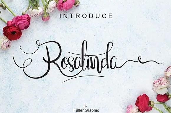 Rosalinda Script Font Free
