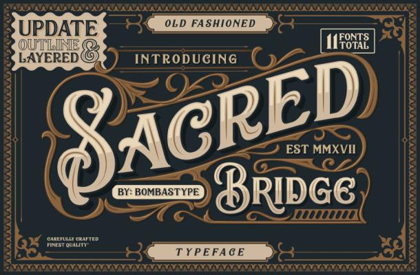 Sacred Bridge Typeface Free